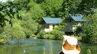 Forest Holidays cabins on lakeside