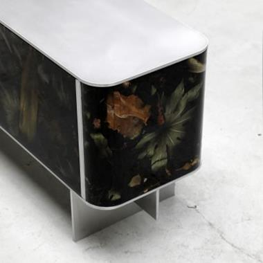 Marcin Rusak adds tropical vibe to his Flora Noir furniture collection