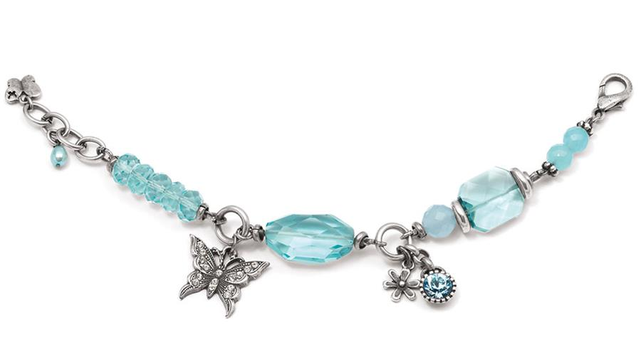 Gypsy Rose Aquamarine Bracelet (B953)