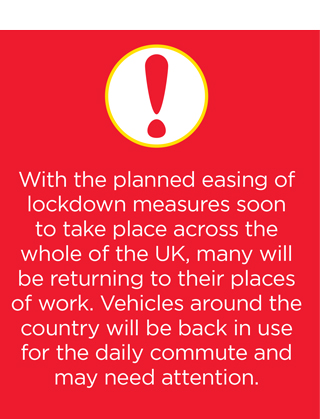 The easing of lockdown